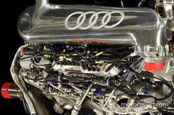 Detail of the V12 TDI powerplant of the new Audi R10