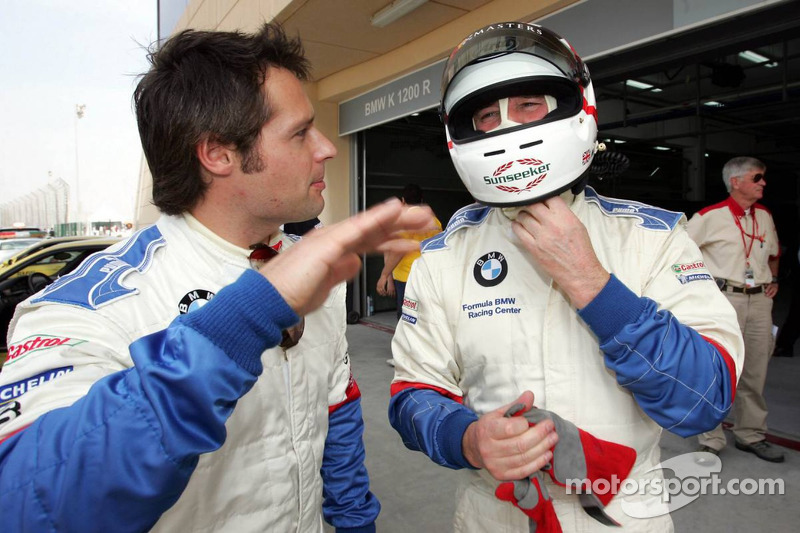 BMW race car training: Nigel Mansell and Andy Priaulx