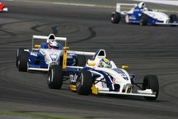 Marco Holzer leads Nicolas Huelkenberg