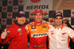 Team Repsol presentation in Lisbon: Paulo Marques, Stéphane Peterhansel and Paulo Goncalves