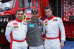 Team Nissan Dessoude presentation: Miguel Ramalho, Carlos Sousa and Miguel Barbosa