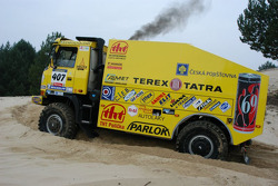 Loprais Tatra Team: Karel Loprais, Petr Gilar and Ales Loprais test the Tatra Dakar 2006 4x4