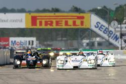 #1 ADT Champion Racing Audi R8: JJ Lehto, Marco Werner, Tom Kristensen leads the field