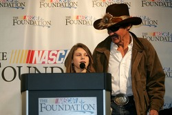 NASCAR Foundation press conference: Emma Lillycrop of the Victory Junction Gang and Richard Petty