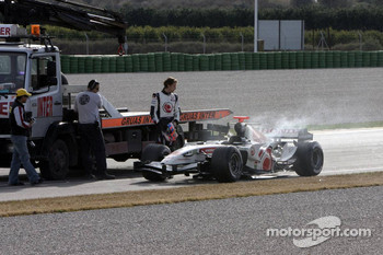 Blown engine for Jenson Button