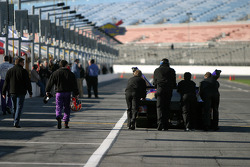 Cheever Racing team members head to practice