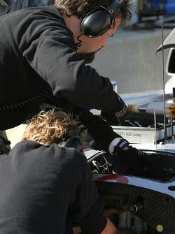 Audi Sport North America team members at work