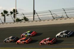Michael Waltrip, Tony Stewart, Jeff Gordon, Dale Earnhardt Jr. and Ryan Newman