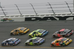 Kurt Busch, Matt Kenseth, Jimmie Johnson, Kyle Busch, Elliott Sadler and Kevin Harvick