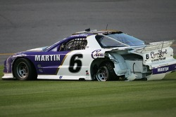 Mark Martin spins out of control