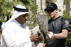 McLaren media breakfast at the Ritz Hotel: a Sheik, Kimi Raikkonen and a falcon