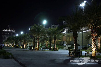 Bahrain paddock at night