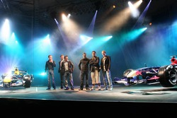 Christian Klien, Robert Doornbos, David Coulthard, Vitantonio Liuzzi, Scott Speed and Neel Jani on stage