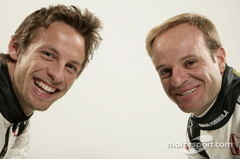 Jenson Button and Rubens Barrichello