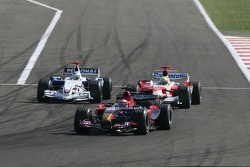 Scott Speed leads Nick Heidfeld and Ralf Schumacher