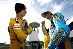 Colin Edwards and John Hopkins