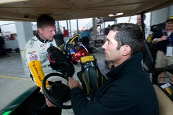 Max Papis gives Jan Magnussen a ride
