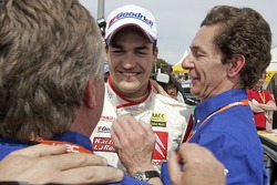Daniel Sordo celebrates with Marc Van Dalen