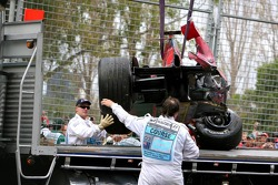Wrecked car of Vitantonio Liuzzi