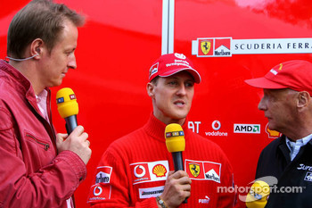 Michael Schumacher and Niki Lauda