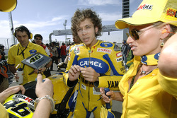 Valentino Rossi on the grid