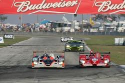#37 Intersport Racing Lola B05/40 AER: Clint Field, Liz Halliday, Jon Field, #33 Barazi Epsilon Courage C65 AER: Juan Barazi, Michael Vergers, Elton Julian