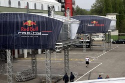 Setup of the Red Bull Energy Station and paddock area: Monday