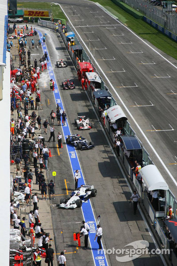 Pitlane at Imola