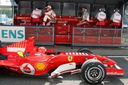 Ralf Schumacher in front Michael Schumacher