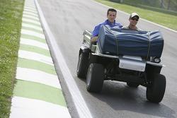 Ernesto Viso goes on a track inspection