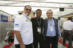 Pop singer Halladay meets Alfonso de Orleans Borbon and Gianpaolo Dallara