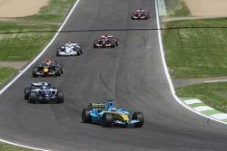Giancarlo Fisichella leads Nico Rosberg