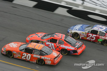 Tony Stewart, Jeff Burton and Brian Vickers