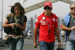 Felipe Massa with girlfriend Rafaela Bassi