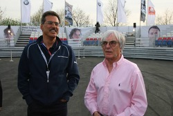 Visit of BMW Sauber F1 team Pitlane Park: Dr. Mario Theissen and Bernie Ecclestone take a look around the new BMW Pit Lane Park