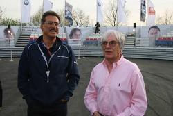 Visit of BMW Sauber F1 team Pitlane Park: Dr. Mario Theissen and Bernie Ecclestone take a look around the new BMW Pit Lane Park