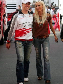 Ralf Schumacher with his wife Cora