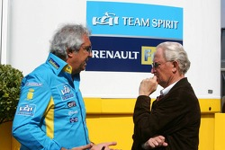 Flavio Briatore talks with Prof. Jürgen Hubbert, Board of Management DaimlerChrysler