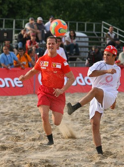 Vodafone Ferrari Beach Soccer Challenge: Michael Schumacher and Felipe Massa