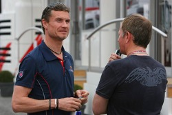David Coulthard and Martin Brundle ITV-F1 commentator