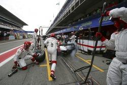 Lewis Hamilton pit stop