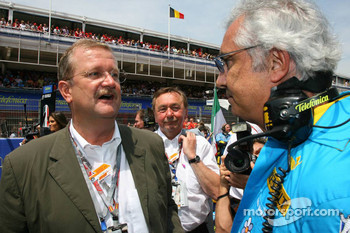 Wendelin Wedeking, CEO Porsche AG with Flavio Briatore