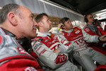 Dr Wolfgang Ullrich, Allan McNish and Tom Kristensen
