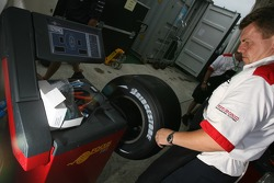 A Bridgestone team member at work