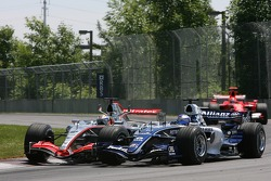Juan Pablo Montoya and Nico Rosberg make contact