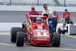 Dave Darland pushes back to the garages