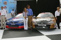 Press conference to announce the sponsorship of Dominos and Burger King for Michael Waltrip Racing
