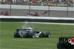 Car of Mark Webber after the crash at turn 1