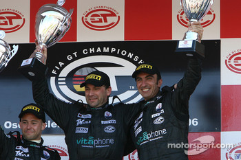 GT1 podium: class and overall winners Michael Bartels and Andrea Bertolini