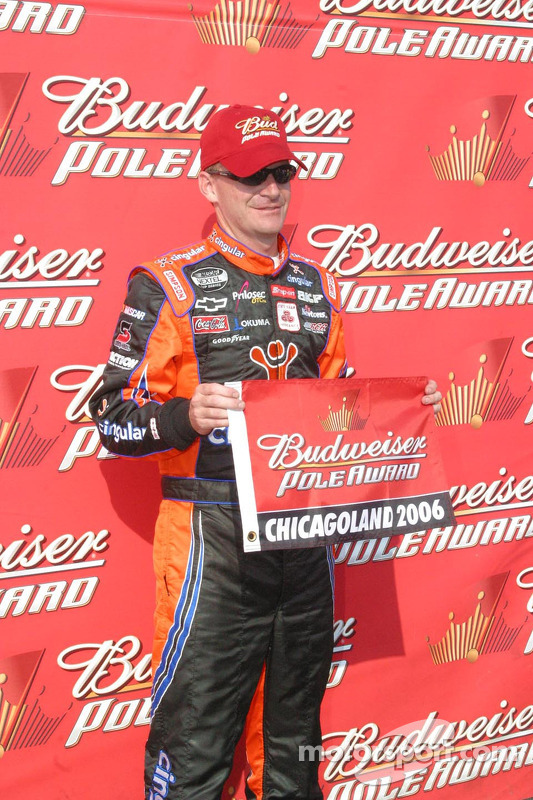 Jeff Burton wins the pole at Chicagoland